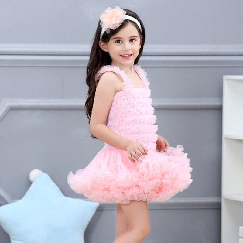 Jolie robe sans manches bébé fille 9 couleurs mode infantile princesse fête de noël Tutu robe pour enfants vêtements Costume - 3