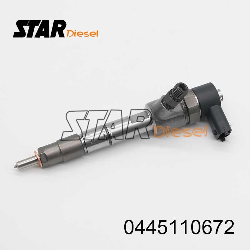 0 445 110 672 Common Rail Diesel Injectie Nozzle 0445110672 Dieselmotor Brandstof Injector 0445 110 672 Gemakkelijk Te Repareren