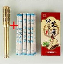 12 in1 Copper Rods Moxa Stick Moxibustion Box Device Moxa Moxibustion Ai Column +10 Moxa Stick