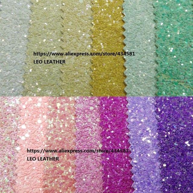 PG012 с эффектом блестящей кожи флуоресцентный Цвета высокого качества обои из ПУ блестящей ткани для DIY Швейные P334