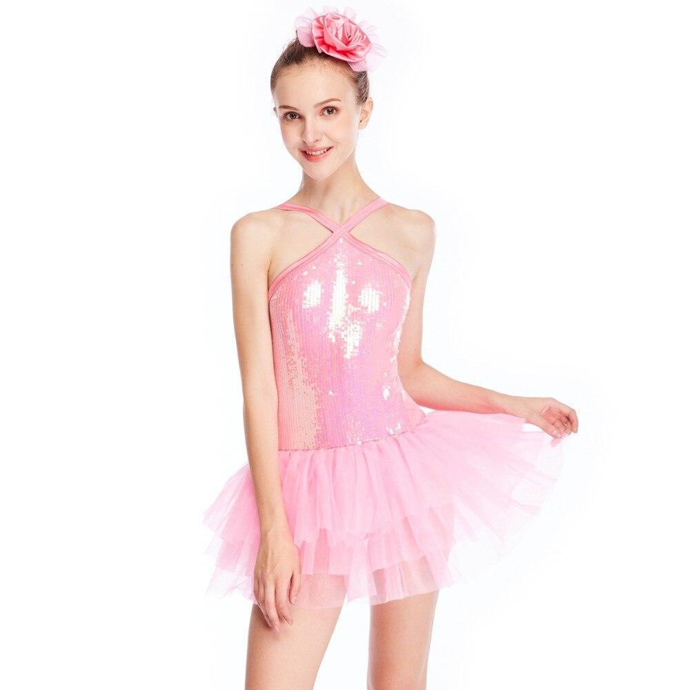 881c6effea39 Aliexpress.com   Buy Girls  Sequin Sleeveless Dance Dress Ballet ...