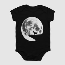Baby Onesie Baby Bodysuits kid t shirt Funny novelty Funny Bull Terrier Moon Shirt Funny Dog Halloween cool(China)