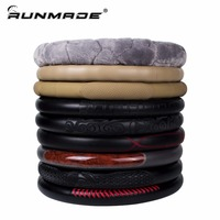 Runmade Car Styling PU Leather Universal Car Steering Wheel Cover 38CM Sport Auto Steering Wheel Covers