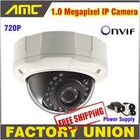 Chất Lượng cao 1.0 Megapixel An Ninh IP Camera Ngoài Trời CCTV Camera IP Hỗ Trợ Onvif IR Night Vision Dome Camera với Cover