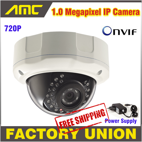 High Quality 1.0 Megapixel Security IP Camera Outdoor CCTV Camera IP Support Onvif IR Night Vision Dome Camera with Cover new waterproof ip camera 720p cctv security dome camera video capture surveillance hd onvif cctv infrared ir camera outdoor