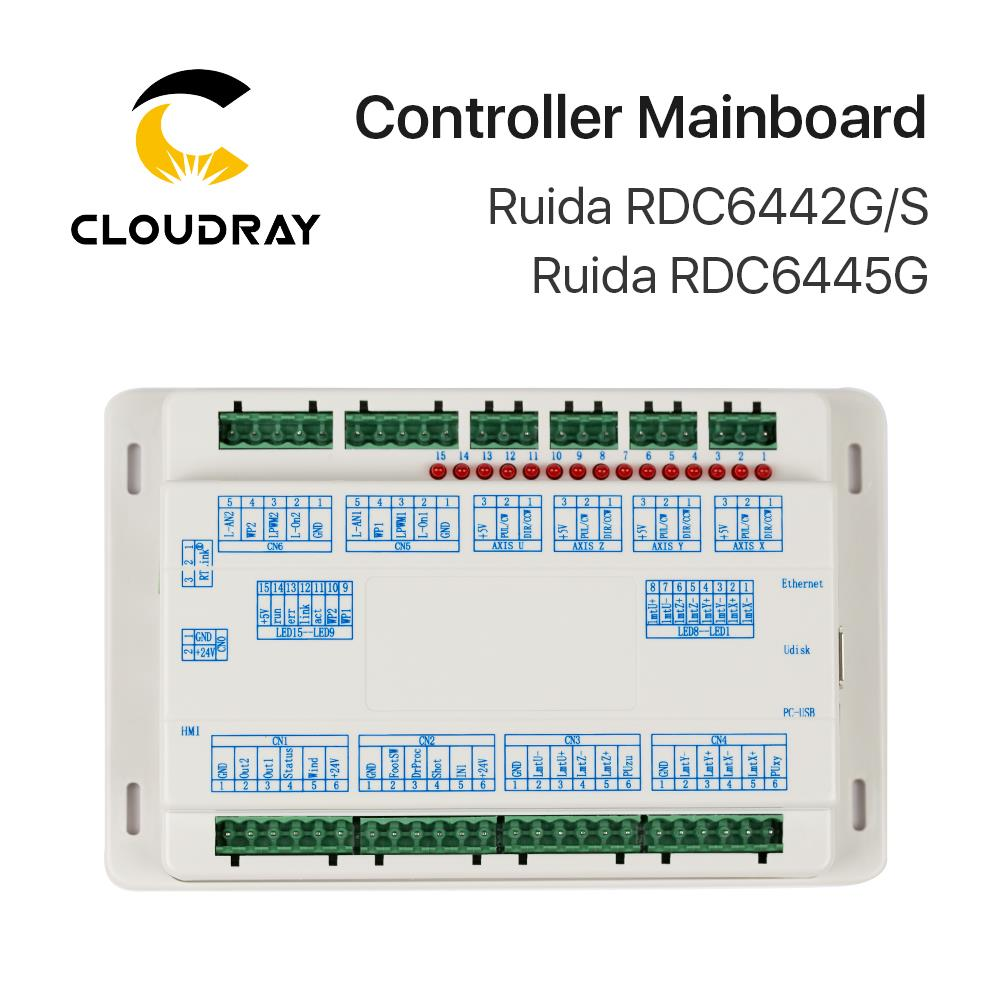 Ruida Mainboard for RD6445G RDC6442G RDC6442S Co2 Laser Controller for Laser Engraving and Cutting Machine RDC 6442 6442G 6442SRuida Mainboard for RD6445G RDC6442G RDC6442S Co2 Laser Controller for Laser Engraving and Cutting Machine RDC 6442 6442G 6442S