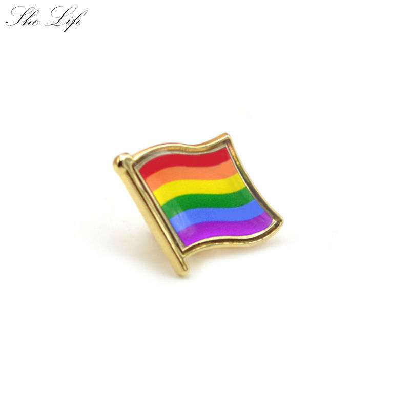 <font><b>Pride</b></font> Rainbow Flag Badge Gay Lesbian Bisexual Transgender Pansexual <font><b>Asexual</b></font> Symbol Pin Rozet Brooch image