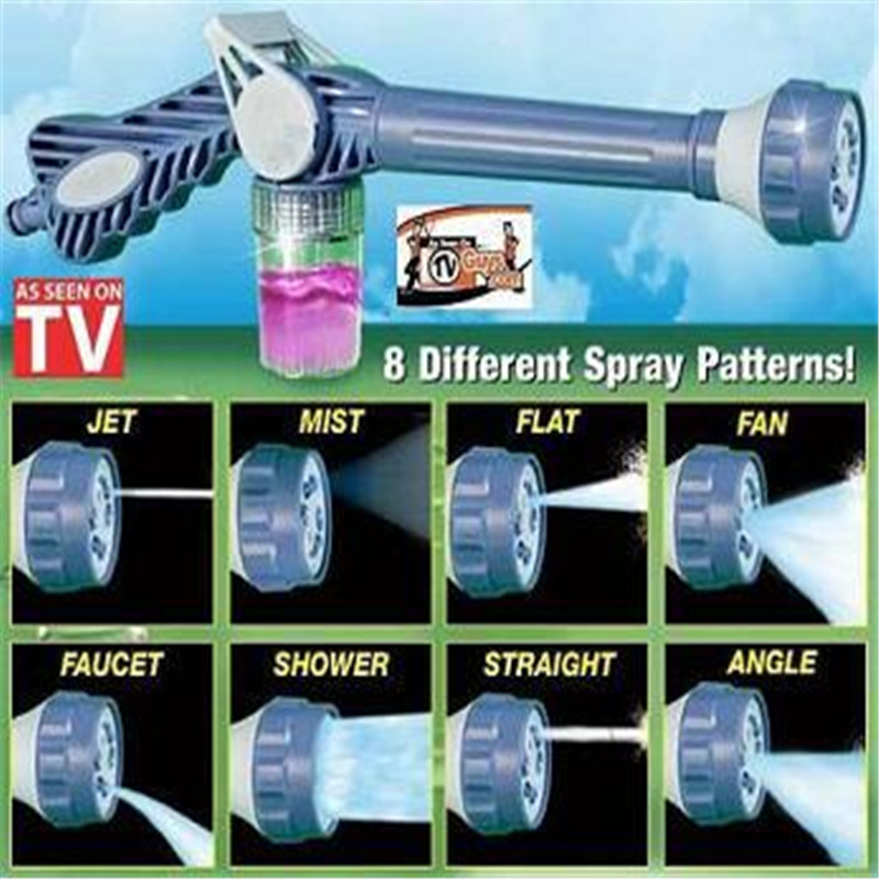 ABS EZ Jet Adjustable Water Cannon Eight in One Multi-functional Water Cannon Gun Spray Garden Watering Car Washing Tools