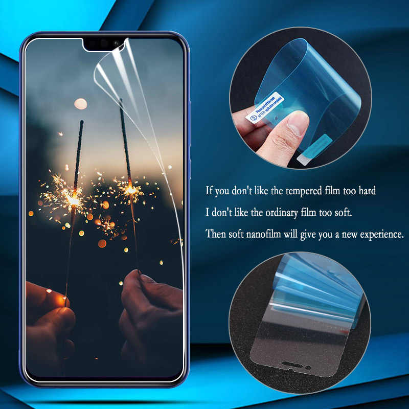 Nano Explosion-proof Thin Film For Huawei Honor 8X 7X 6X 7C 8 9 Lite Note 10 Play Screen Protector For Huawei Y6 Pro Y5 2018