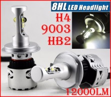 1 Set H4 HB2 9003 80W 12000LM G8 LED Headlight Kit XHP-50 4LED SMD Chips Super Bright 6000K Hi/Low Dual Beam Speed Fan Driving