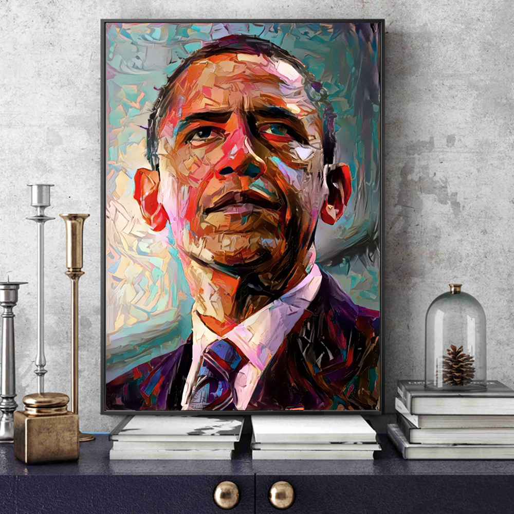America President Of Obama Portrait Canvas Art Paintings Modern Pop Wall Posters And Prints Cuadros Pictures For Living Room image