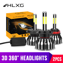 hlxg 4 Sides 12000LM H8 H11 Fog lights No Error h7 led canbus H4 LED Lamp HB3 9005 HB4 H1 H27 Auto 12V 6000K 4300K 8000K 5000K(China)