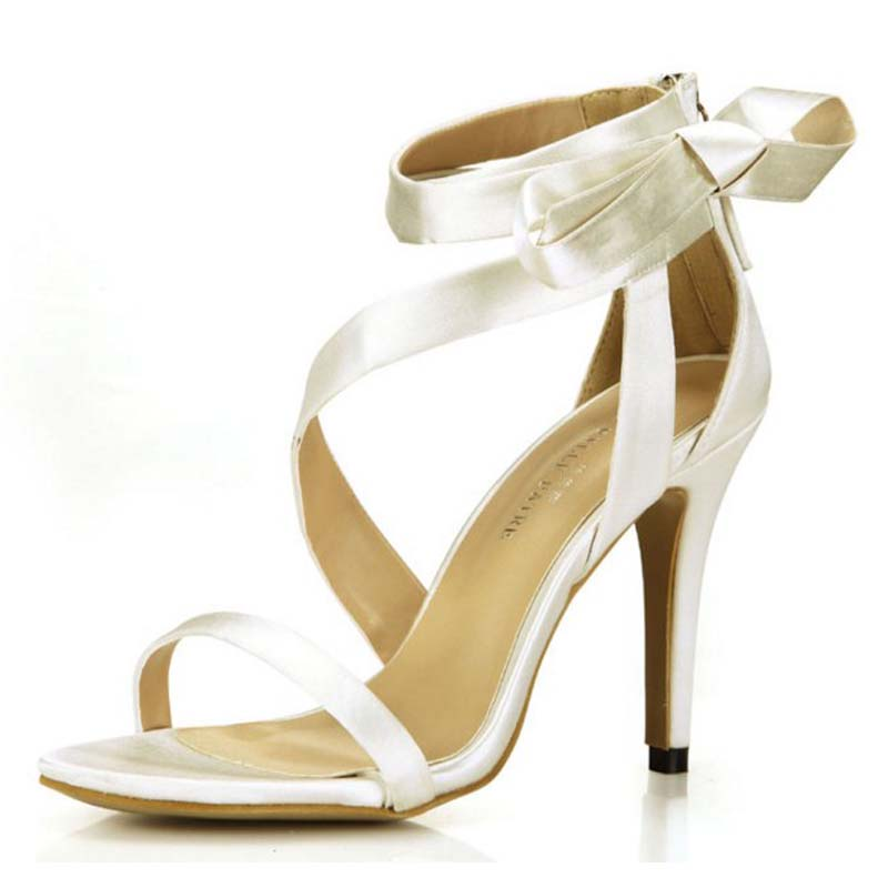 ФОТО 2016 newest hot selling silk women sandals sexy gladiator high heels sandal elegant bowtie summer party wedding pumps rome shoes