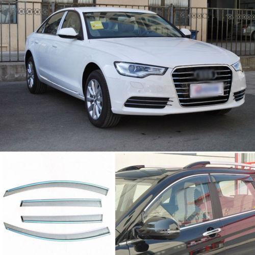 4 шт. Новый Копченый Очистить Окно Vent Shade Visor Обтекатели Для Audi A6L 2013