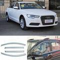 4 pcs Nova Smoked Limpar Janela de Ventilação Da Máscara Viseira Defletores de Vento Para Audi A6L 2013