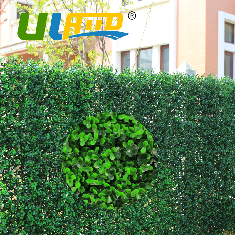 uland sythenic diy grass fence panel 25x25cm plastic long green boxwood mat plant grass mat outdoor