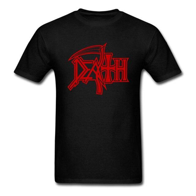 new death logo t shirt rock band heavy metal men women tee euro size rh aliexpress com Heavy Metal Band Art Heavy Metal Band Art