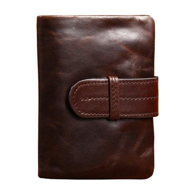 9c3db982bb US $121.6 |Men Wallets Famous Brand 100% Cowhide Genuine Leather Wallet Men  Card Holder With Coin Pocket Short Vintage Design Wallet Purse-in Wallets  ...