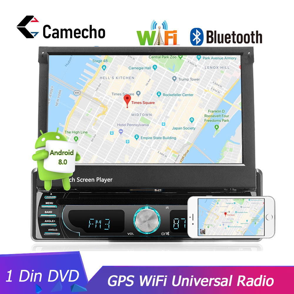 Camecho Car Radio Android GPS Navigation 12V 1 din In dash Autoradio Wifi Car Audio Stereo Universal DVD Player Rear View Camera-in Car Radios from Automobiles & Motorcycles    1