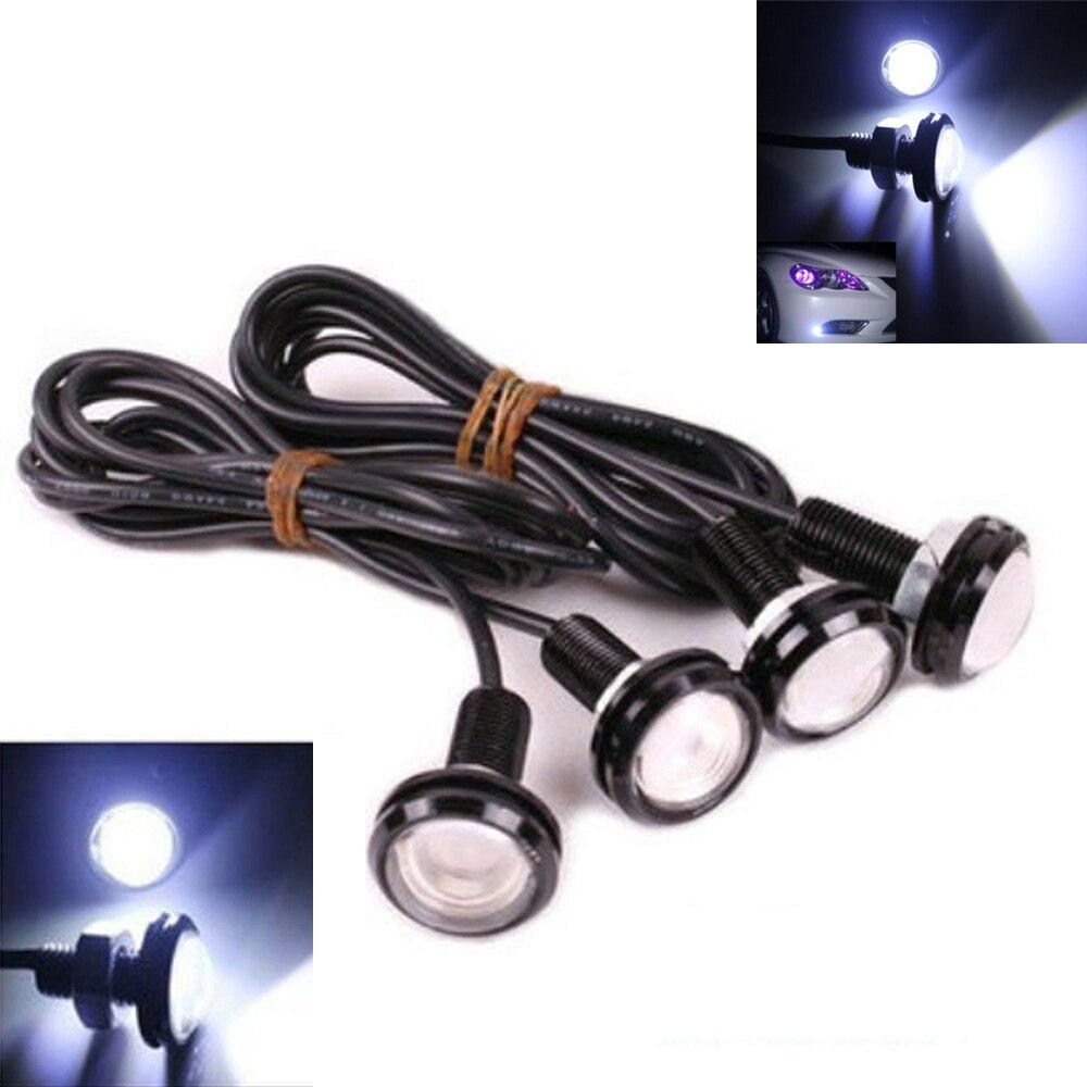 4pcs 9W White <font><b>LED</b></font> Hawkeye <font><b>Eagle</b></font> <font><b>Eye</b></font> Car Daytime Running Light DRL Fog Lamp Reverse Backup Parking Signal Light Waterproof 12v
