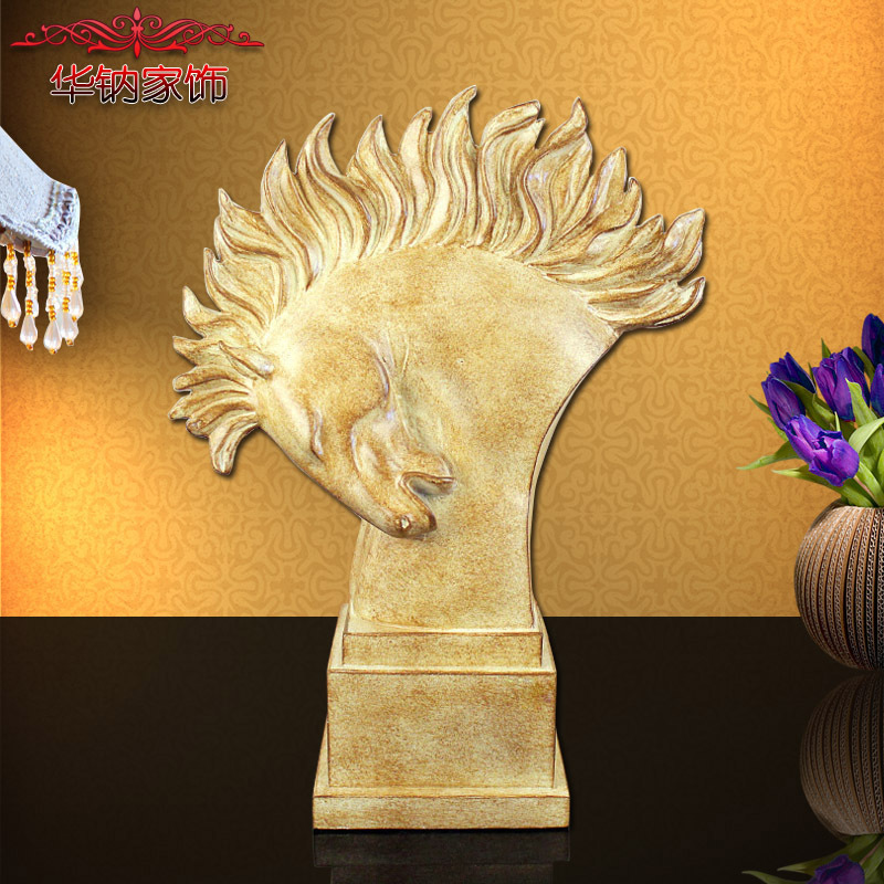 2016 New Direct Selling European Art Decoration Ma Resin Crafts Home Furnishing Office Horse