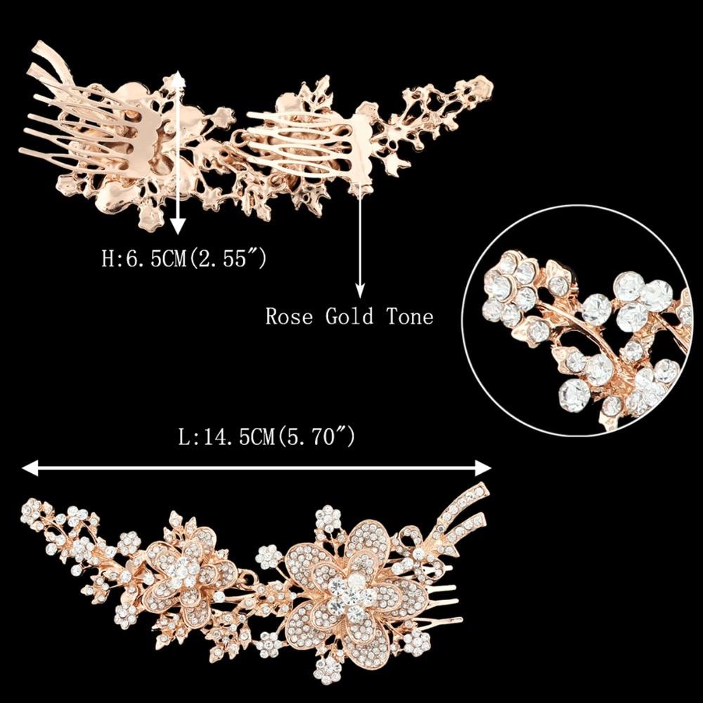 Bella Fashion Flower Leaf Bridal Hair Comb Austrian Crystal Rhinestone Wedding  Headpiece For Bridesmaid Party Jewelry Gift-in Hair Jewelry from Jewelry ... 4bdd65b5fe96