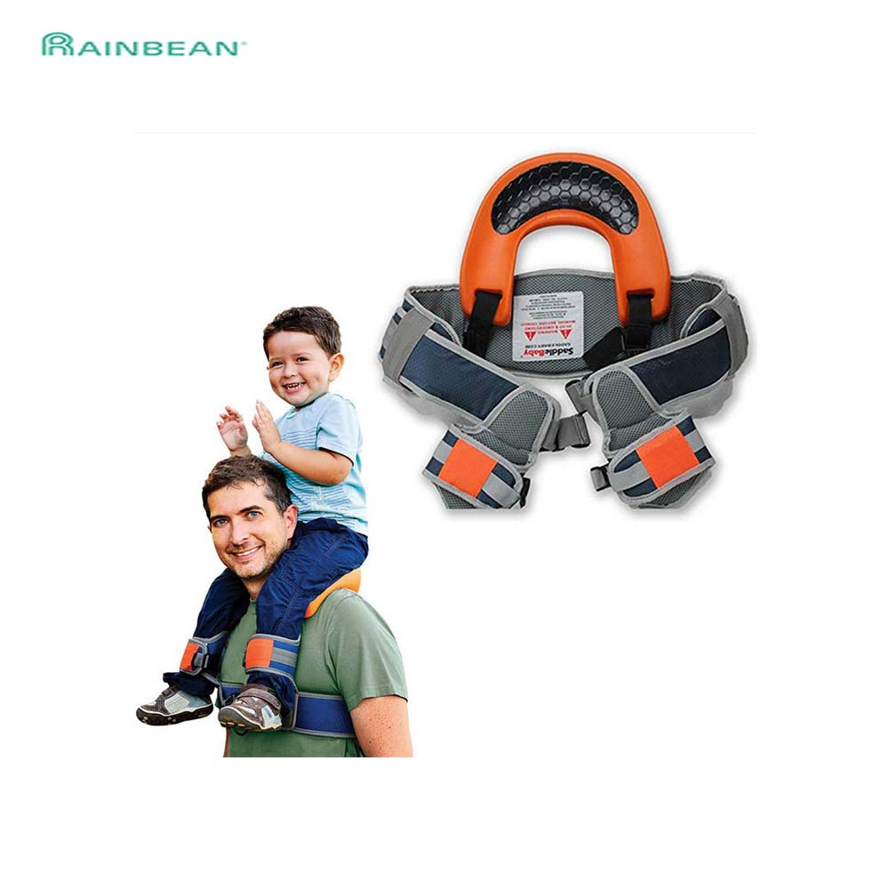 Hands-Free Shoulder Carrier Nylon Child Strap Rider For 2-5 Years Old Baby Kids Safest Saddle Wrap Sling Suspenders