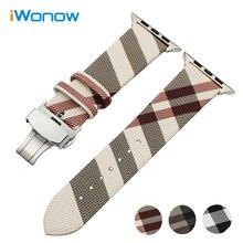 Пояса из натуральной кожи ремешок для iwatch Apple Watch 38 мм 42 мм серии 1 2 3 сетке замена группы Сталь пряжка ремешок
