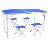 Поднял стабильной кемпинг таблица Многофункциональный Открытый комплект стол и стул простой Портативный Пикник обеденный стол, мебель