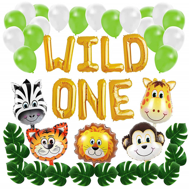 Wild One First Birthday Balloon Decoration Kit 1st Boy Girl Theme Bday Party Banner Set