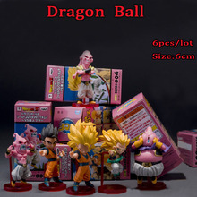 6pcs/Lot Dragon Ball Son Gohan Display Doll Collection Toy Anime Super Saiyan Action Figure Toys Children Xmas Gift
