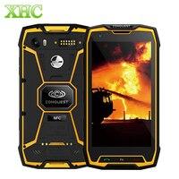 IP68 завоевание S9 5,5 дюймов Android 7,1 смартфон 6 ГБ 64 ГБ 6000 мАч отпечатков пальцев ID MTK6757 Octa Core NFC OTG Dual SIM мобильный телефон