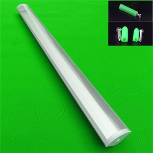Image 4 - 5 30 stks/partij 40 inch 1 m 45 graden hoek hanger aluminium profiel voor dubbele rij led strip, milky/transparant deksel voor 20mm pcb