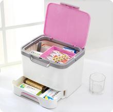 Semiportable большой емкости с ящиком Медицина Box Семейный комплект наркотиков ганизатор коробка для хранения косметики