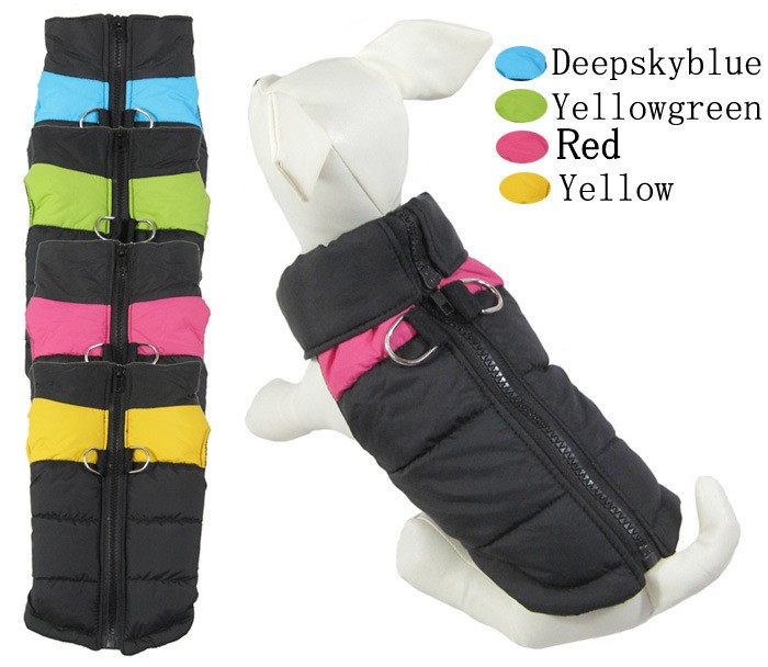 Fashion Autumn And Winter Pet Dog Clothes Pet Clothing Puppy Ski Vest With Straps Buckle Waterproof Warm Jacket Costumes Apparel
