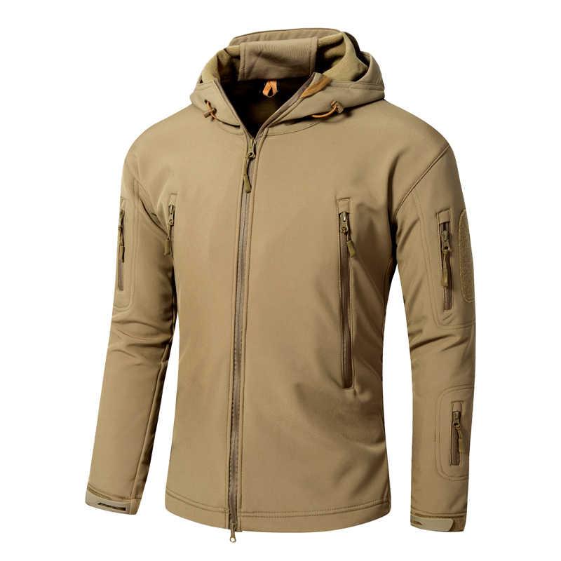 屋外スポーツソフトシェル TAD 戦術的なジャケットセット男性迷彩狩猟服軍事コートキャンプ付きジャケット