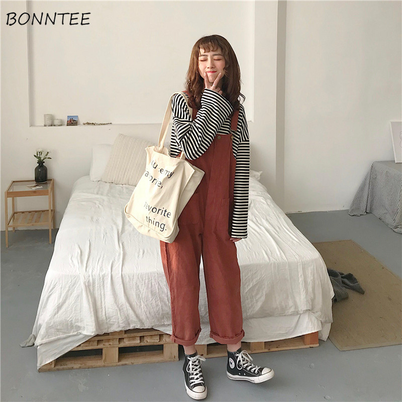Jumpsuits   Women Solid Leisure Long Trendy All-match   Jumpsuit   Womens Cute High Quality Streetwear Harajuku Soft Ladies Clothing