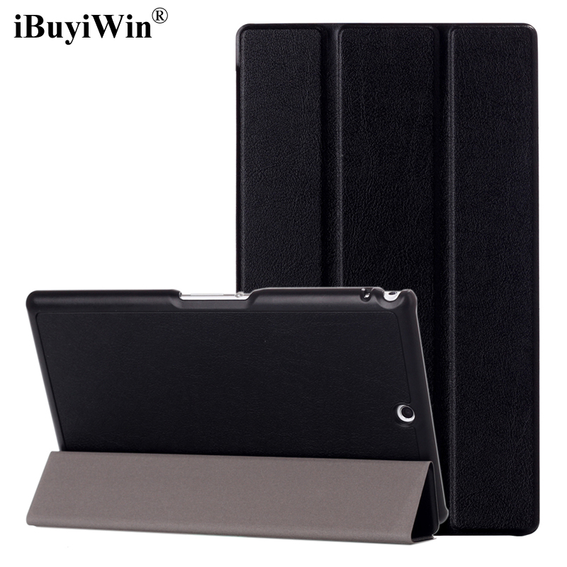 iBuyiWin Ultra Slim PU Leather Case for Sony Xperia Z3 Compact 8.0 Tablet Cases Folding Stand Protective Cover+Screen Film+Pen enkay clear hd screen protector protective film guard for sony xperia z3 l55t transparent