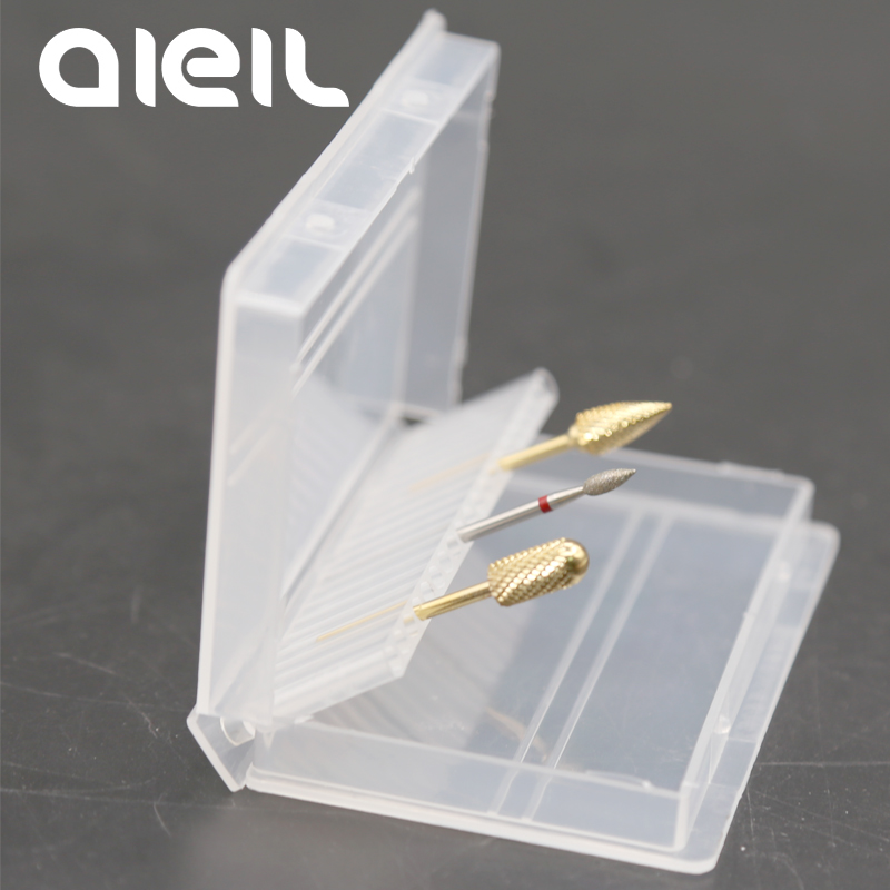 30/20 Holes Acrylic Drill Bit Storage Box Nail Drill Bits Box Storage Box For Nail Drill Bit Holder Milling Cutter For Manicure