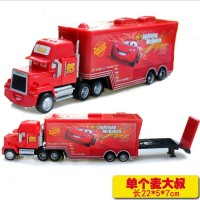 Hot Sale Cartoon Cars Pixar Cars 2 Truck Combination McQueenes Diecast 1 55 Metal Toy Car