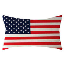 Ouneed 30cm x 50cm Minimalist National Flag Pillow Case Linen Cover Case Sofa Hand Washable Luxury Soft Duvet Cover Set 19feb22(China)