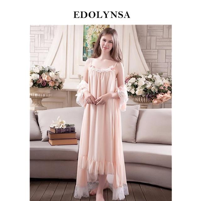 New Arrivals Lace Nightgown Robes Set Bathrobe Sets Sexy Nightdress  Bridesmaid Robes Set Peignoir Wedding Robe a73c156cd