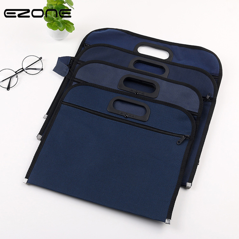 EZONE B4 Portable Document Bag Single/Double-deck File Bag Business Conference Envelope Office Stationery Large Capacity Fashion