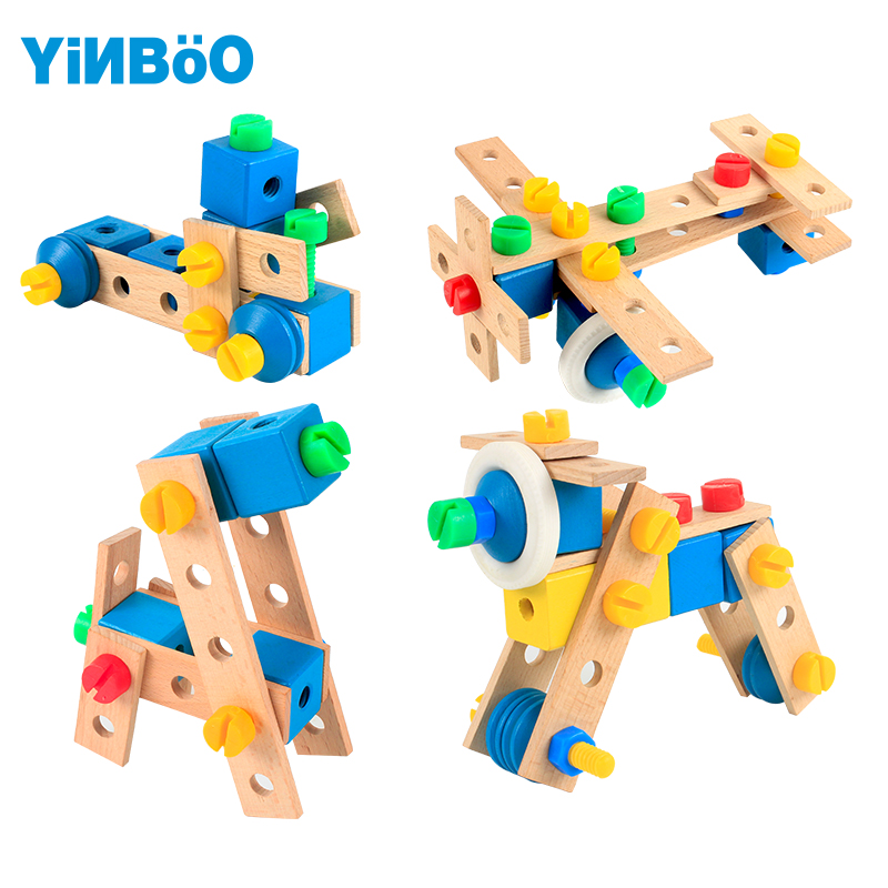цена Baby toys for children wooden game car hot wheels kids toy vehicle DIY tool for boy gift-70 pcs