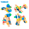 Baby toys for children wooden game car hot wheels kids toy vehicle DIY tool for boy gift-70 pcs