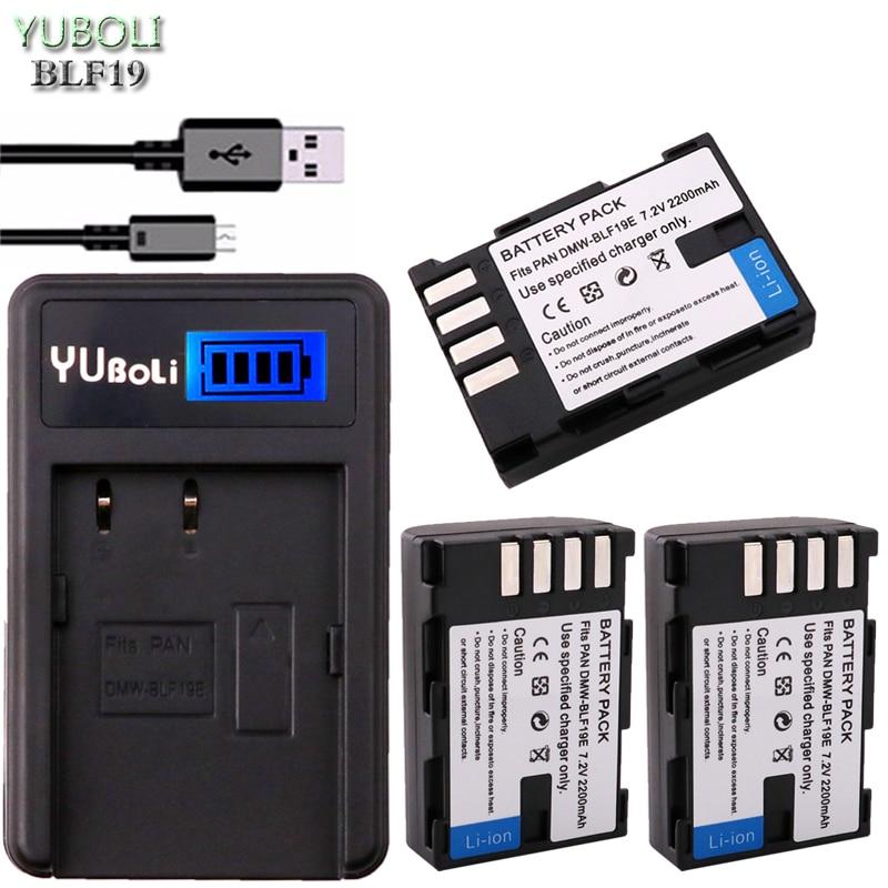 4 Pc 2200 Mah Dmw-blf19 Dmwblf19e Dmw Blf19 Dmw-blf19e Blf19pp Batterie & Lcd Ladegerät Für Panasonic Lumix Gh3 Gh4 Gh5 Dmc-gh3 Digital Batterien