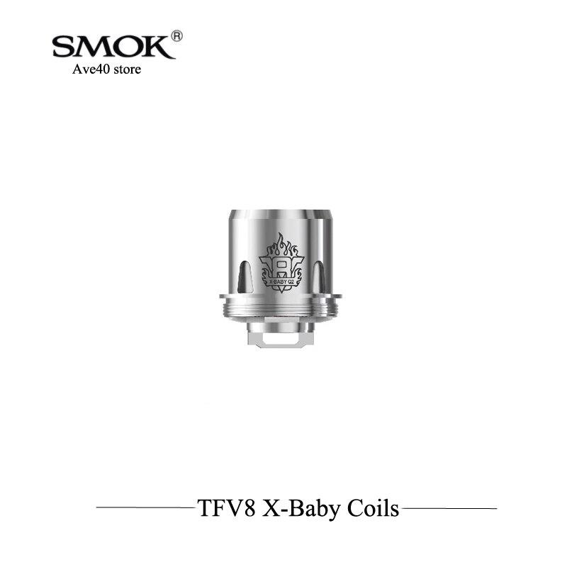 3 шт./лот 100% оригинал Smok TFV8 X-ребенка катушки Q2 M2 X4 T6 катушки для TFV8 х Детские танк Fit Smok чужой комплект испаритель Vape
