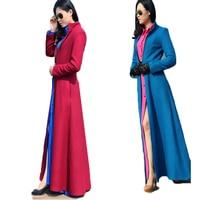 Female Over Coat Women Long Winter Overcoat Zipper Separable Jacket Manteau Women Autumn Winter Woolen Maxi Long Coat Trench