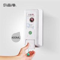 SVAVO Wall Hanging Liquid Soap Dispenser Hotel Bathroom Hand Pressing Manual Soap Dispenser Soap Dispenser(400ml)