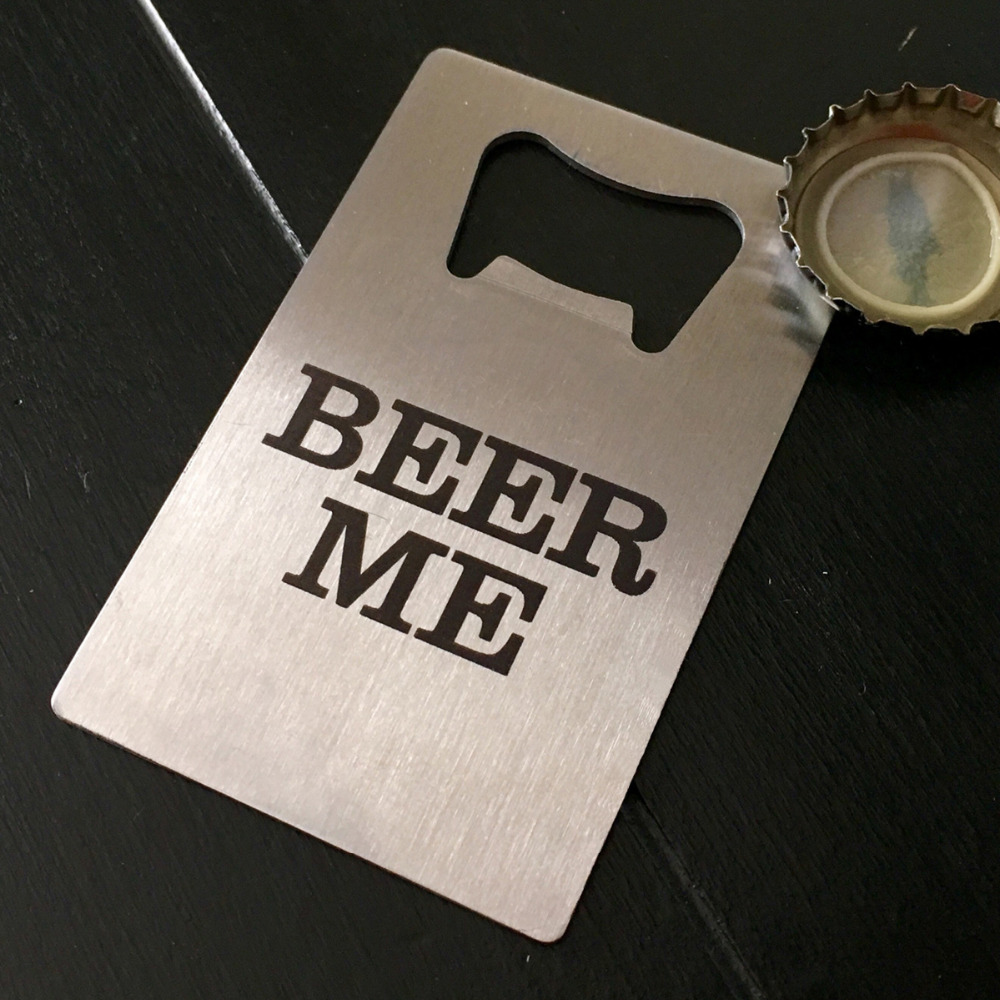 100x corporate promotional gifts custom beer bottle opener 100x corporate promotional gifts custom beer bottle opener personalized credit card sized bottle opener custom logo printed free in openers from home reheart Choice Image